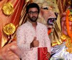 Ranbir Kapoor at a Durga Puja pandal