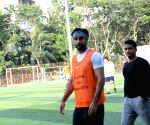 Celebs during a football match at Juhu