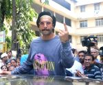 2019 Lok Sabha Elections - Phase IV - Ranveer Singh casts vote