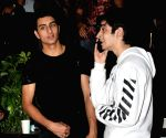 Ibrahim Ali Khan, Angad Bedi, Neha Dhupia and Lopamudra seen at Mumba's Bandra