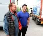 "Salman Khan with father Salim Khan during ""Bharat"" promotions"