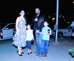 Sanjay Dutt spotted at restaurant with Manyata and twins