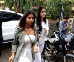 Suhana, Ananya and Tiger seen at a restaurant