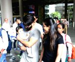 Shahid, Mira and daughter Misha Kapoor spotted at airport