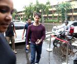 Disha Patani, Tiger Shroff and Ananya Pandey seen at a restaurant