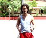 Tiger Shroff spotted outisde a gym