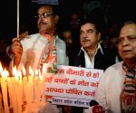 Shatrughan Sinha participates in a candlelight vigil
