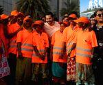 Varun Dhawan at #SaveTheBeach clean-up drive