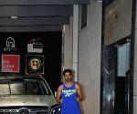 Varun Dhawan seen outside a gym at Bandra