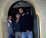 Vicky Kaushal seen with family at a Juhu restaurant