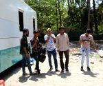 """Sanjay Mishra, Vivaan Shah at the shooting of """"Coat"""