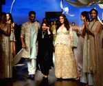 Lakme Fashion Week Winter/Festive 2018 - Angad Bedi, Neha Dhupia walk for Payal Singhal