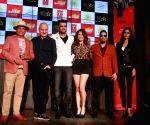 "Actors Annu Kapoor, Anupam Kher, Manish Paul, Manjari Phadnis, Natasha Suri and singer Mika at the music launch of their upcoming film ""Baa Baa Black Sheep"" in Mumbai on March 1, ..."