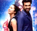 "Arjun Kapoor and Shraddha Kapoor at promotion of film ""Half Girlfriend"