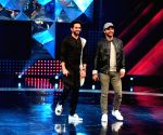 "Ayushmann, Kriti and Raj Kumar on the sets of ""Dance Plus Season 3"