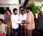 Junior NTR, Ram Charan and Chiranjeevi pay homage to N. Harkrishna