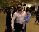 Saif, Kareena, Taimur seen at Mumbai Airport