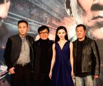 Actors Liu Ye, Jackie Chan, Jing Tian and director Ding Sheng during promotions of 'Police Story 2013'