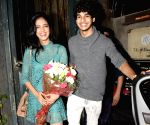 Malavika Mohanan and Ishaan Khatter seen at a cafe