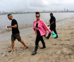 Beach Clean Up programme - Neha Dhupia and Angad Bedi