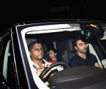 Ranbir Kapoor, Alia Bhatt seen outside Karan Johar's house