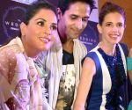 Richa Chadda, Arslan Goni and Kalki Koechlin during a promotional programme