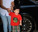Taimur seen at Soha Ali Khan's house