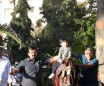 Taimur Ali Khan seen riding a horse