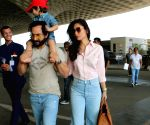 Saif Ali Khan, Kareena Kapoor Khan, Taimur Ali Khan seen at airport