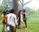 Sunny Leone, Mandana Karimi during on location shoot