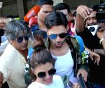 Varun Dhawan, Jacqueline Fernandez and Alia Bhatt at LGBI Airport