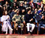 Attari (Punjab): Varun Dhawan, Vicky Kaushal, Yami Gautam at 2019 Republic Day celebrations