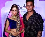 Yuvika Chaudhary and Prince Narula during a fashion show