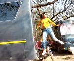 Aahana Kumra spotted at Filmcity