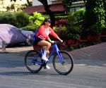 Aisha Sharma seen cycling at Bandra