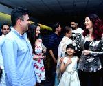 "Special screening of film ""Fanney Khan"" - Aishwarya Rai Bachchan and Aaradhya Bachchan"