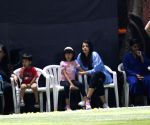 Aishwarya Rai, Aaradhya Bachchan seen during Abhishek Bachchan's football match