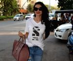 Ameesha Patel seen outside a Juhu salon