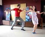 Amisha Patel learns western dance