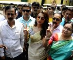 2019 Lok Sabha elections - TMC's Mimi Chakraborty files nomination