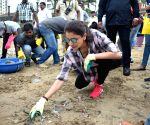 Anushka participates in a cleanliness