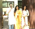 Bhagyashree with her children during Raksha Bandhan celebrations