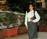 Bhumi Pednekar poses for the shutterbugs at Versova