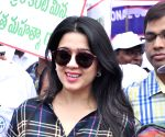 Charmee Kaur during World Toilet Day