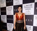 Dia Mirza during the Lakme Fashion Week Winter/Festive 2017