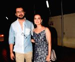Dia Mirza and Sahil Sangha seen at a cinema theatre