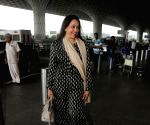 Hema Malini spotted at airport