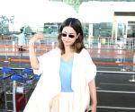 Hina Khan seen at Mumbai Airport