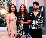 "Shahid Kapoor, Kiara Advani on ""Vogue BFFs Season 3"" sets"