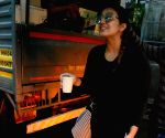 Huma Qureshi seen at a restaurant